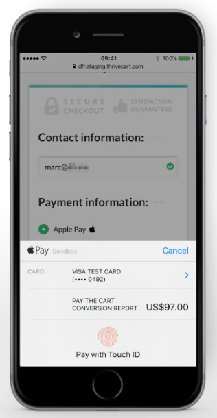 Touch ID - Applypay - Thrivecart